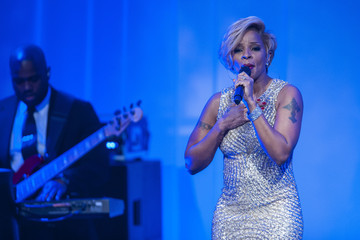 Mary J. Blige Guests Arrive For White House State Dinner In Honor Of French President
