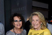 Claudia Cardinale (L) and Marta Marzotto attend the 60th Taormina Film Festival on June 15, 2014 in Taormina, Italy.