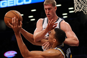 Mason Plumlee Rudy Gobert Utah Jazz v Brooklyn Nets
