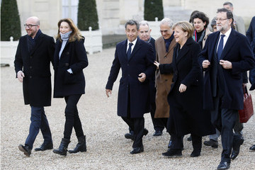 Carla Bruni-Sarkozy Mass Unity Rally Held In Paris Following Recent Terrorist Attacks