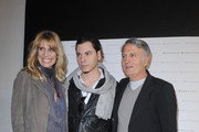 Filippa Lagerback, Roberto Amade' and Massimo Rebecchi attend the Massimo Rebecchi fashion show as part of Milan Fashion Week Womenswear Autumn/Winter 2011 on February 25, 2011 in Milan, Italy.