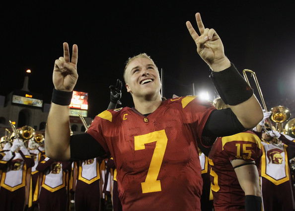 Matt Barkley looks comfortable at USC. Photo by Jeff Gross/Getty Images