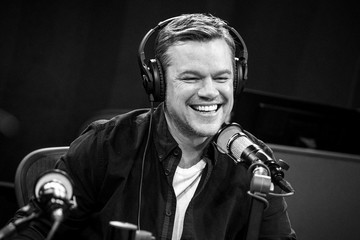 Matt Damon Matt Damon Visits The SiriusXM Hollywood Studios In Los Angeles