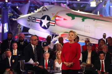 Matt Lauer Democratic Presidential Nominee Hillary Clinton Takes Part in a Candidate Forum in New York