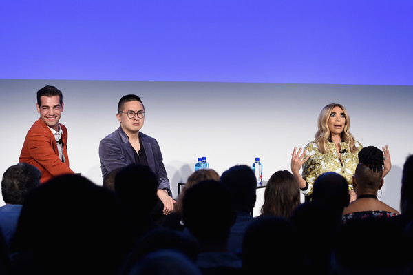 Vulture Festival Presented By AT&T - Milk Studios, Day 1 [event,sky,performance,conversation,convention,technology,audience,tourism,businessperson,crowd,wendy williams,bowen yang,matt rogers,l-r,new york city,milk studios,at t,vulture festival]