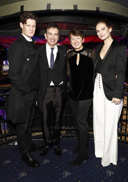 National Youth Theatre Fundraising Evening [suit,formal wear,tuxedo,event,blazer,chief executive officer,matt smith,paul roseby obe,dawn airey,lily james,cafe royal,england,london,getty images,national youth theatre fundraising evening]