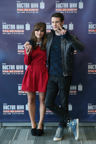 'Doctor Who' 50th Anniversary Celebration [doctor who,photograph,premiere,event,carpet,movie,performance,fictional character,gather to celebrate 50th anniversary of doctor who,matt smith,actors,pose,excel london,centre,show,event]