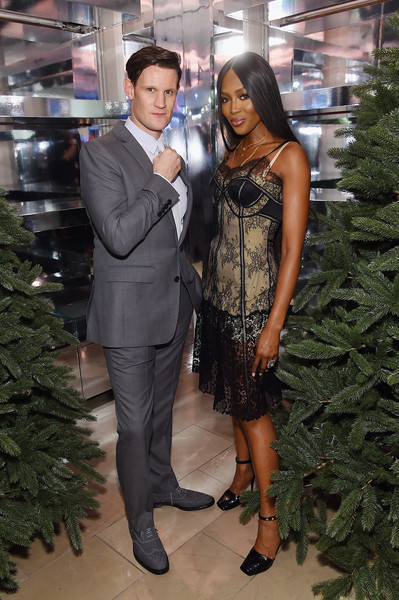 "Naomi Campbell And Matt Smith Celebrate ""Close Your Eyes And Think Of Christmas"" In New York"