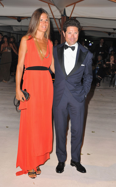 Opening Dinner - 68th Venice Film Festival [clothing,suit,formal wear,fashion,dress,event,shoulder,fashion model,tuxedo,haute couture,venice,italy,hotel excelsior,dinner,venice film festival,68th venice film festival,veronica sgaravatti,matteo marzotto]