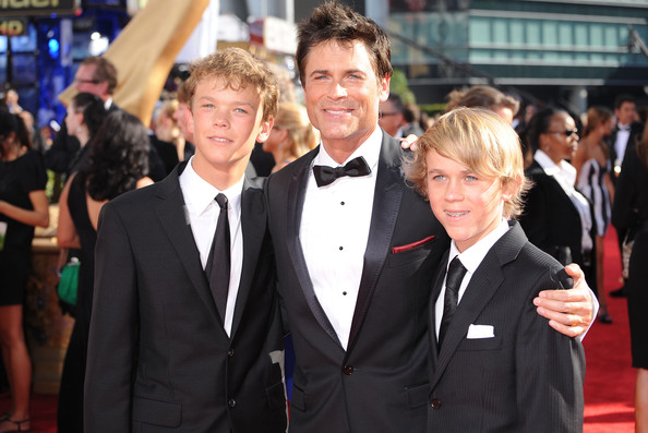 Photo of Rob Lowe & his  Son  Matthew Edward Lowe