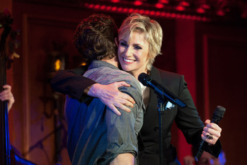 Matthew Morrison Jane Lynch at 54 Below with Celeb Friends