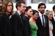 "Samuel Gauthier, Pier-Luc Funk, Xavier Dolan, Catherine Brunet, Gabriel D'Almeida Freitasand and Nancy Grant attend the screening of ""Matthias Et Maxime (Matthias and Maxime)"" during the 72nd annual Cannes Film Festival on May 22, 2019 in Cannes, France."