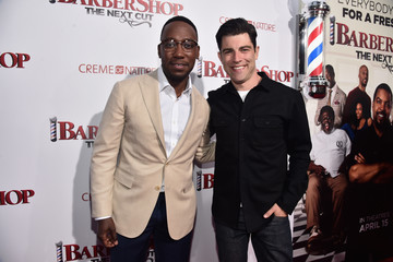 Max Greenfield Premiere of New Line Cinema's 'Barbershop: The Next Cut' - Red Carpet