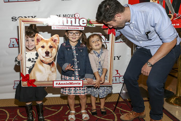 Max Greenfield Max Greenfield And Daughter Host Screening Of ANNIE For Friends And Family