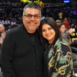 Mayan Lopez Celebrities Visit the Los Angeles Lakers Game