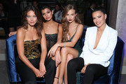 (L-R) Emily DiDonato, Livia Rangel, Josephine Skriver and Adriana Lima attend the Maybelline New York Fashion Week party on September 07, 2019 in New York City.