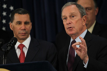 Michael Bloomberg David Paterson Mayor Bloomberg And Governor Paterson Announce Ground Development