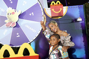 """Violet Madison Nash and Christina Milian are seen as McDonald's treats guests to Happy Meals at the """"Toy Story 4"""" Premiere After Party at El Capitan Theatre on June 11, 2019 in Los Angeles, California."""