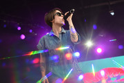 Sara Quin of Tegan and Sara performs onstage during the Meadows Music And Arts Festival - Day 1 at Citi Field on September 15, 2017 in New York City.