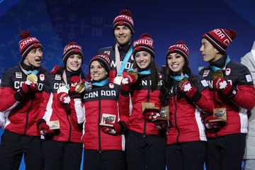 Meagan Duhamel Eric Radford Medal Ceremony - Winter Olympics Day 3