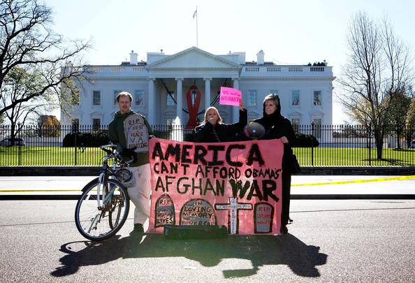 Activist Group CodePink Protests Against The War In Afghanistan