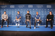 (L-R) Laureus Academy Member Raul, Hidetoshi Nakata and Laureus Academy Member Cafu are interviewed prior to the 2018 Laureus World Sports Awards at Le Meridien Beach Plaza Hotel on February 26, 2018 in Monaco, Monaco.