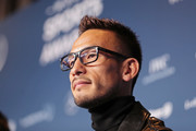 Hidetoshi Nakata is interviewed prior to the 2018 Laureus World Sports Awards at Le Meridien Beach Plaza Hotel on February 26, 2018 in Monaco, Monaco.
