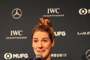 USA Swimmer, Missy Franklin makes a speach during the Media Interviews prior to the Laureus World Sports Awards on February 17, 2019 in Monaco, Monaco.