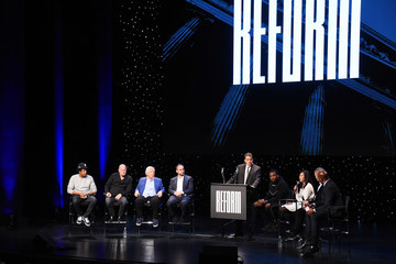 Meek Mill Meek Mill And Michael Rubin And CEO Van Jones Launch The Reform Alliance With Founding Partners