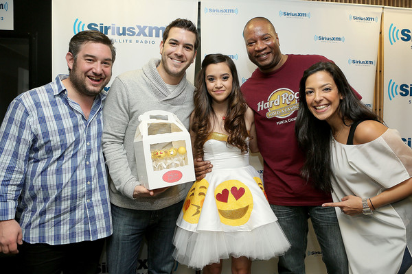 SiriusXM Hits 1's The Morning Mash Up Broadcast From The SiriusXM Studios In Los Angeles [the morning mash up broadcast,product,yellow,event,liqueur,siriusxm hits 1,stanley t,megan nicole,nicole ryan,rich davis,ryan sampson,l-r,los angeles,the siriusxm studios]