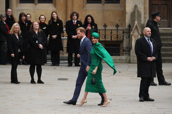 Commonwealth Day Service 2020 [event,outerwear,suit,harry,meghan,service,suit,tradition,sussex,duchess,commonwealth service,duke of sussex,event,suit,tradition]