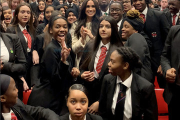 Meghan Markle The Duchess Of Sussex Visits The Robert Clack Upper School In Dagenham