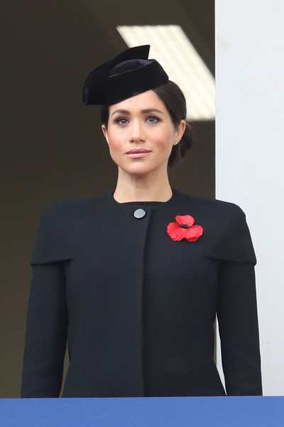 Wreaths Are Laid At The Cenotaph On Remembrance Sunday [armistice,fashion model,beauty,fashion,headgear,shoulder,fashion show,hat,formal wear,gentleman,haute couture,meghan,wreaths,the cenotaph on remembrance,memorial,duchess,sussex,germany,allies,remembrance sunday]