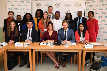 Meghan Markle The Duke & Duchess of Sussex Attend a Roundtable Discussion on Gender Equality with The Queens Commonwealth Trust