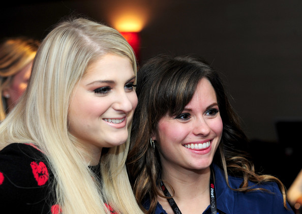 Backstage at 101.3 KDWB's Jingle Ball  [hair,face,blond,hairstyle,beauty,eyebrow,brown hair,smile,lip,fashion,meghan trainor,sky zone indoor trampoline park,allstate - backstage,xcel energy center,st paul,minnesota,kdwb,l,allstate,jingle ball 2014]