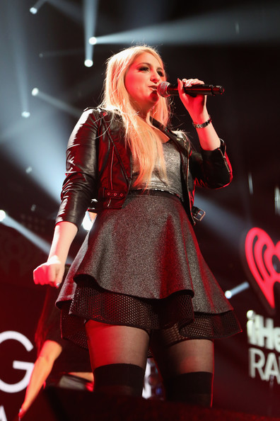 KISS 108's Jingle Ball 2014 - Show [performance,entertainment,singing,performing arts,music artist,red,singer,music,thigh,public event,meghan trainor,boston,massachusetts,td garden,kiss 108,market basket supermarkets,jingle ball 2014 - show]