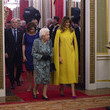 Melania Trump HM The Queen Hosts NATO Leaders At Buckingham Palace Banquet