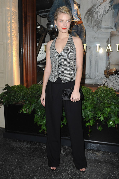 Ralph Lauren Dinner to Celebrate Flagship Opening - Photocall [clothing,fashion,waist,trousers,fashion model,leg,jeans,fashion design,style,haute couture,ralph lauren dinner,melanie laurent,photocall,paris,france,celebrate flagship opening]