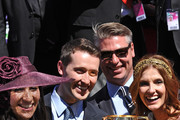 Tom Waterhouse and wife Hoda Vakili (L)  and Kate Waterhouse and husband Luke Ricketson celebrate the win of Gai Waterhouse after Fiorente won the Emirates Melbourne Cup during Melbourne Cup Day at Flemington Racecourse on November 5, 2013 in Melbourne, Australia.