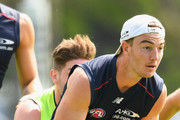 Tim Smith of the Demons breaks from a pack during a Melbourne Demons AFL training session at Gosch's Paddock on December 16, 2016 in Melbourne, Australia.