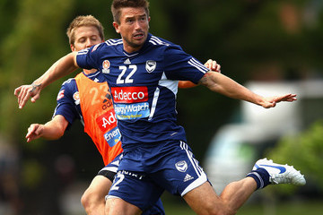 Adrian Leijer Harry Kewell Melbourne Victory Training Session