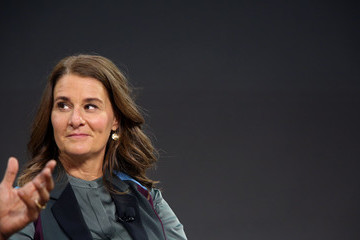 Melinda Gates Former President Obama Speaks At The Gates Foundation Inaugural Goalkeepers Event