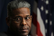 U.S. Rep. Allen West (R-FL) listens during a Tea Party Town Hall meeting February 8, 2011 at the National Press Club in Washington, DC. The town hall meeting was held by the Tea Party Express and Tea Party HD to address issues Tea Party members were concerned over.