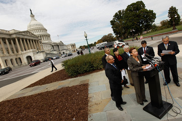 Lacy Clay Charles Gonzalez Members Of Congress Rally Against Proposed Amendment For Census-Taking