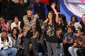 """Terrence Members Of The New Orleans Saints Visit BET's """"106 & Park"""""""