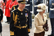 Tim Lawrence (L) and Princess Anne Princess Royal attend as members of the Royal Family attend events to mark the centenary of the RAF on July 10, 2018 in London, England.