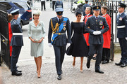 (L-R) Catherine, Duchess of Cambridge, Prince William, Duke of Cambridge, Meghan, Duchess of Sussex and Prince Harry, Duke of Sussex attend as members of the Royal Family attend events to mark the centenary of the RAF on July 10, 2018 in London, England.
