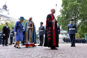Queen Elizabeth II (L) attends as members of the Royal Family attend events to mark the centenary of the RAF on July 10, 2018 in London, England.