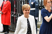 Nicola Sturgeon attends as members of the Royal Family attend events to mark the centenary of the RAF on July 10, 2018 in London, England.