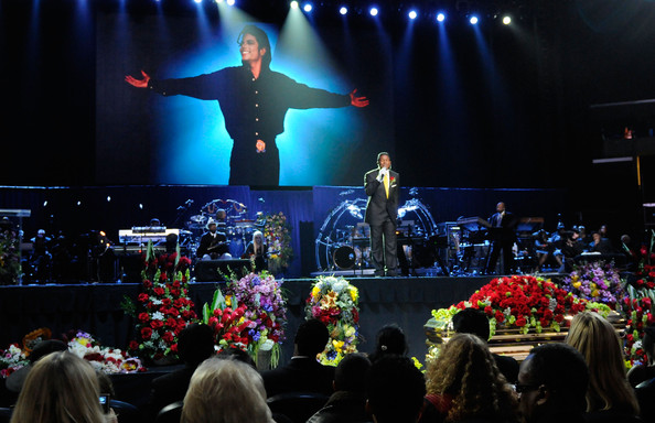 Jermaine+Jackson in Memorial Service For Michael Jackson Draws Thousands Of Fans And Mourners